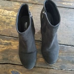 Kenneth Cole Reaction Shoes - Kenneth Cole Reaction Black Leather Ankle Booties
